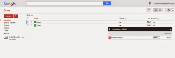 google drive bar