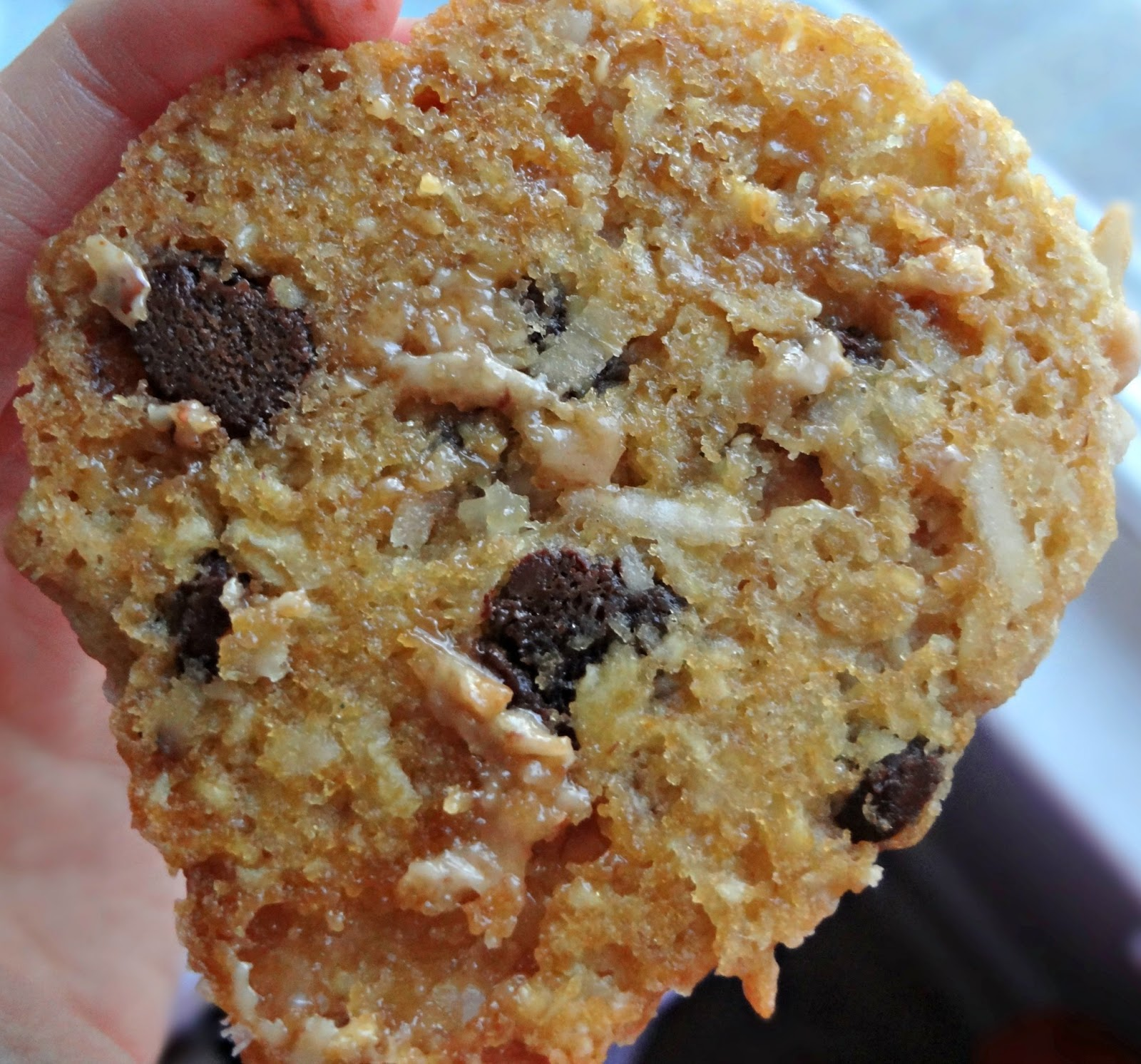 The Cooking Actress: Coconut Toffee Oatmeal Chocolate Chip Cookies
