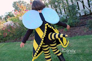 Halloween asu tytölle mehiläispuku
