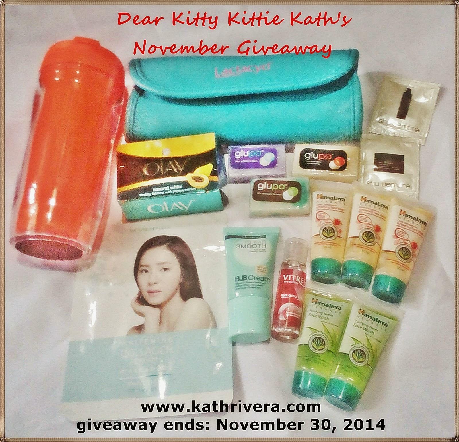 Dear Kitty Kittie Kath's November Giveaway
