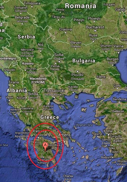 Magnitude 4.5 Earthquake of Megalopolis, Greece 2014-10-04