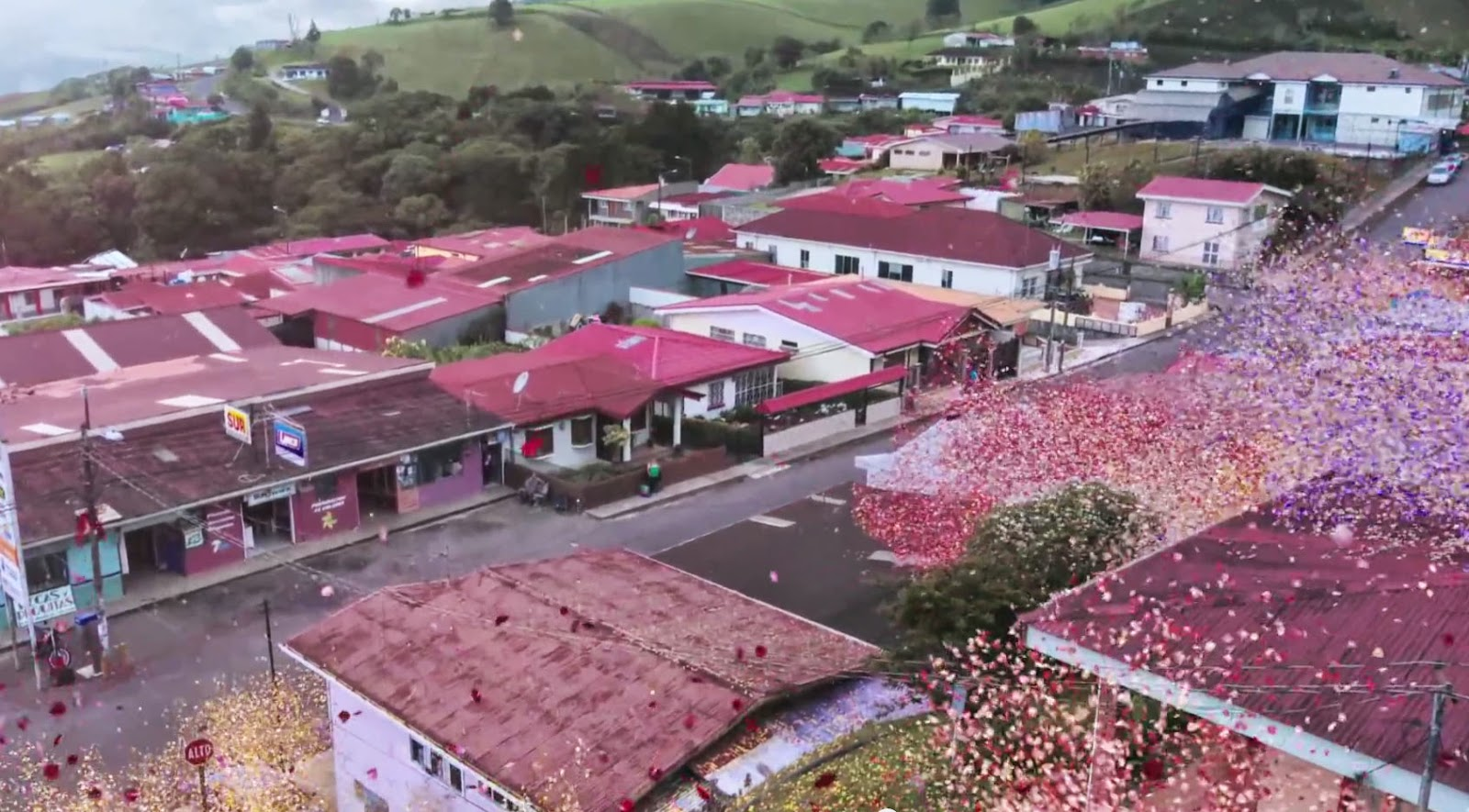 Sharing An Amazing Commercial Featuring Millions Of Flower Petals Erupting From A Volcano Covering Town Near The Irazu In Central Costa Rica