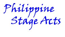 Philippine Stage Acts