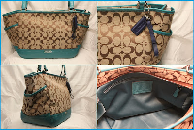 COACH Park Signature Carrie Tote 23297