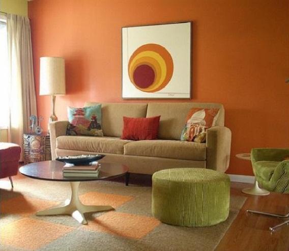 consigli per la casa e l' arredamento: imbiancare soggiorno ... - Colore Pareti Soggiorno Marrone 2