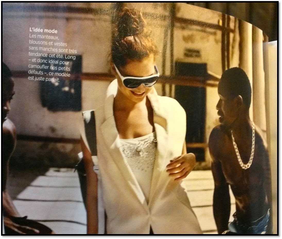 Série Mode magazine Gael belgique avril 2014 cliché raciste