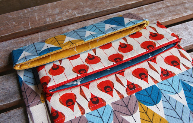 Charley Harper fabrics purse for Birch Fabrics Quilt Market