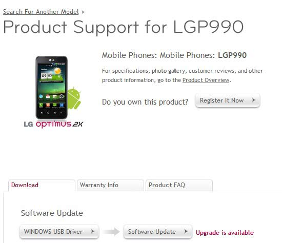 Download gingerbread to lg optimus 2x