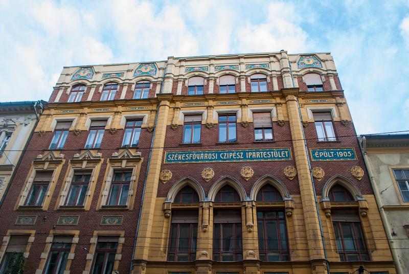Jewish quarter architecture in budapest