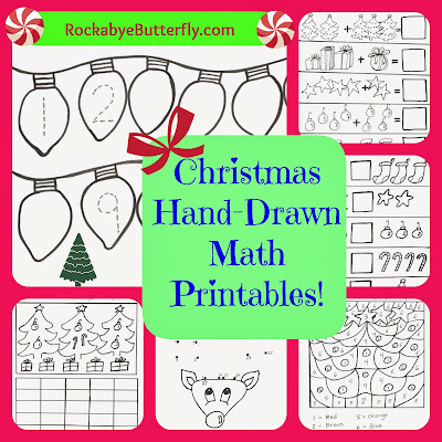 http://www.rockabyebutterfly.com/2013/12/christmas-hand-drawn-math-printables.html