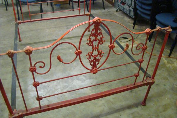 Good  cast iron bed frame while spending a beautiful day at the flea market that you simple can not live without but you ure not sure how it will fit in with
