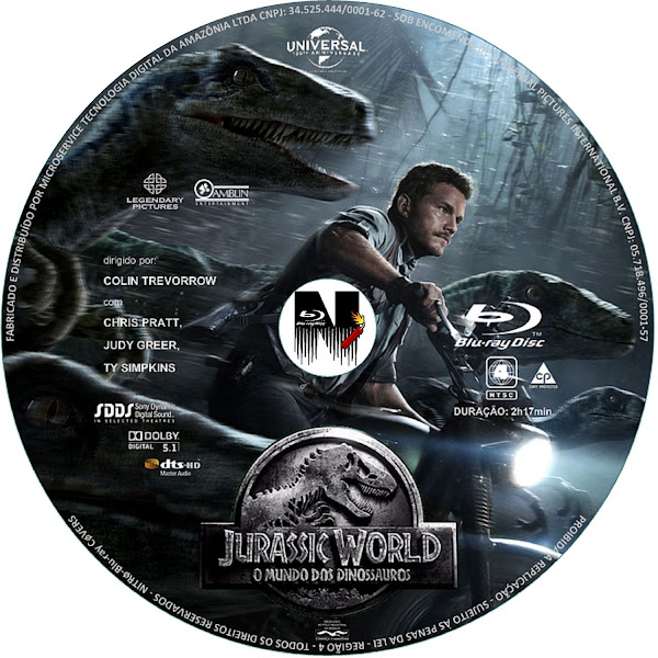 Label Bluray Jurassic World O Mundo Dos Dinossauros