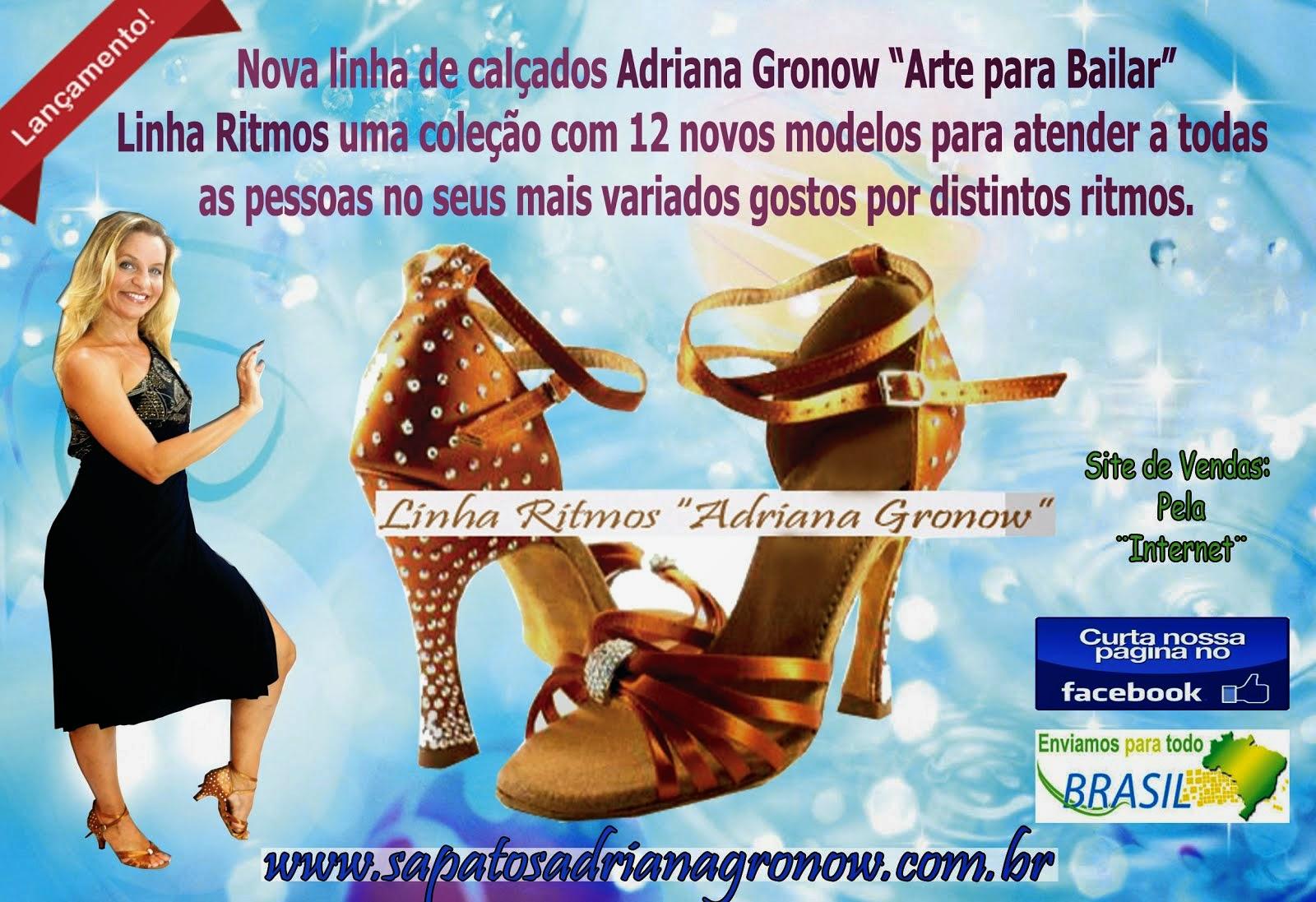 LINHA DE SAPATOS EM CETIM ADRIANA GRONOW