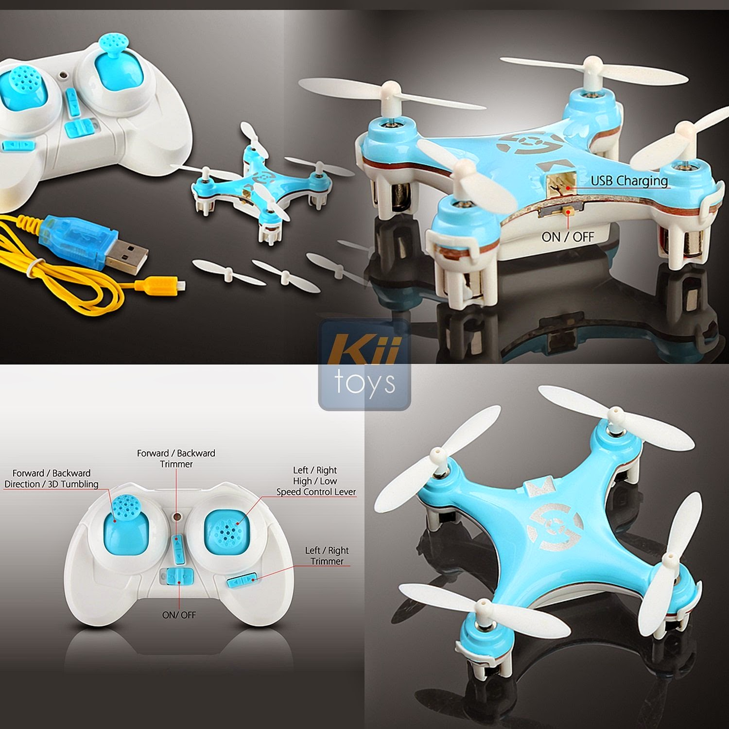 Quadcopter Drone RC Helicopter Quad Copter Toy