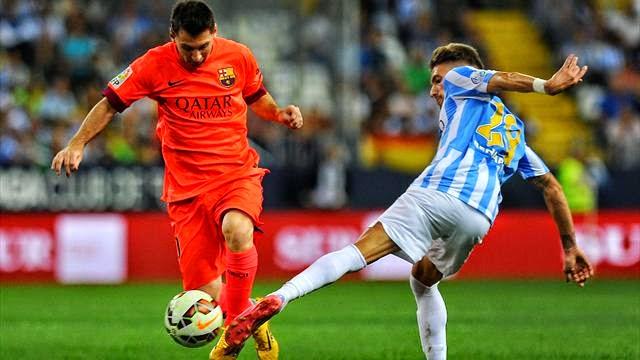 برشلونة يتعادل مع ملقا سلبيا