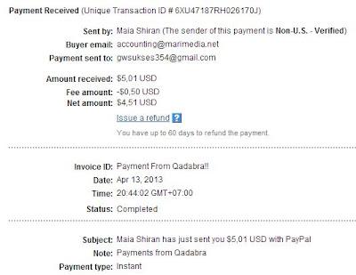 Bukti Pembayaran PPC Qadabra.com
