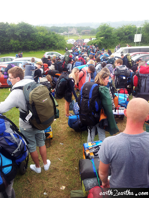 Glastonbury 2013 Queue