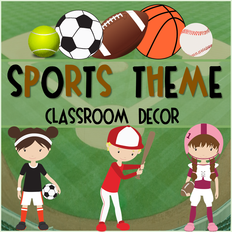 http://www.teacherspayteachers.com/Product/Classroom-Decor-Sports-1408636