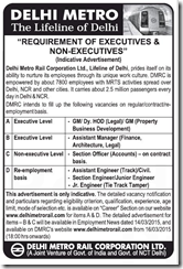 DMRC Manager and Section Officer Job Openings 2015