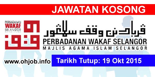 Jawatan Kerja Kosong Perbadanan Wakaf Selangor logo www.ohjob.info oktober 2015