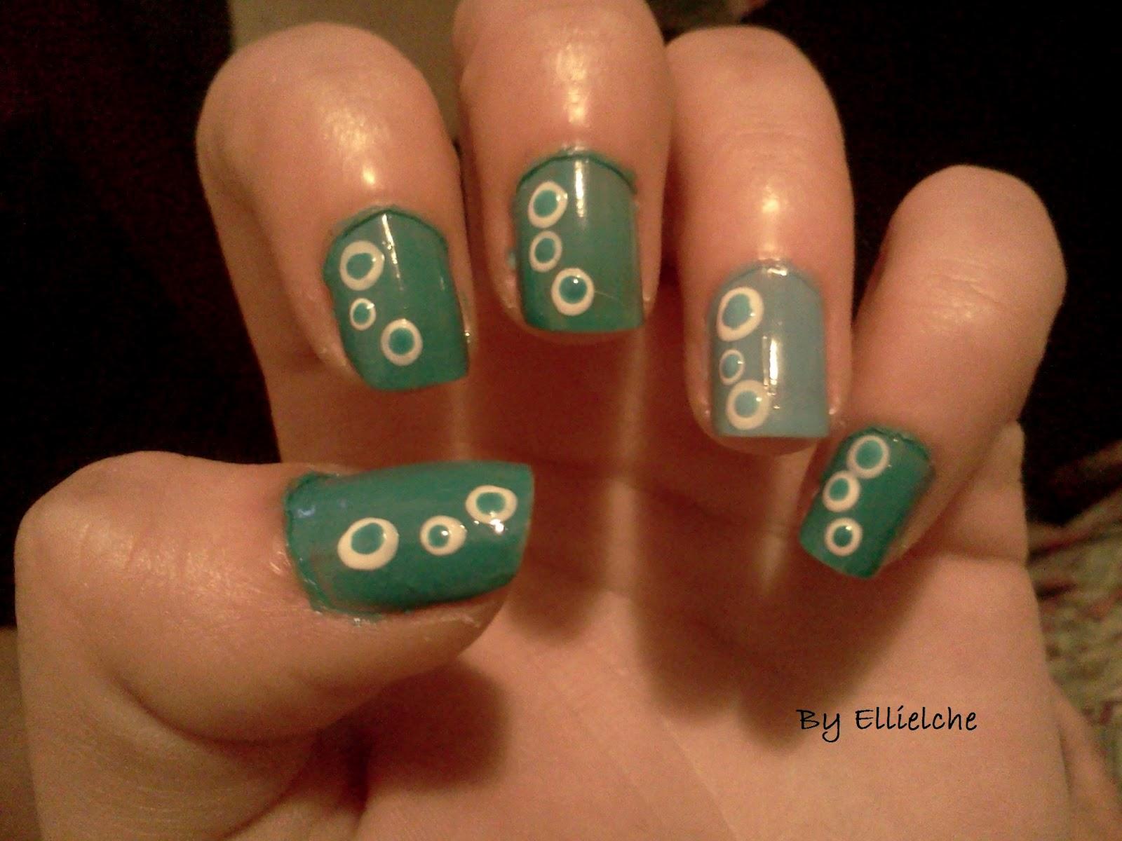 this nail art design is variation of sugar dots nail art i made before