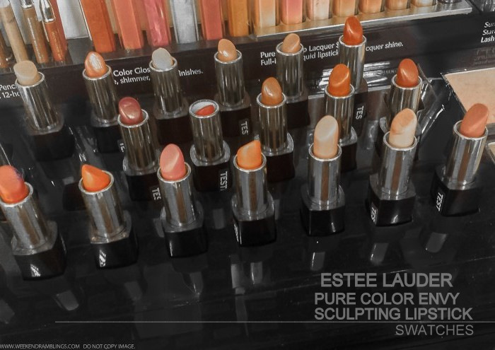 Estee Lauder Pure Color Envy Sculpting Lipticks - Swatches
