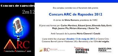 Gala final Concurs de Rapsodes 2012