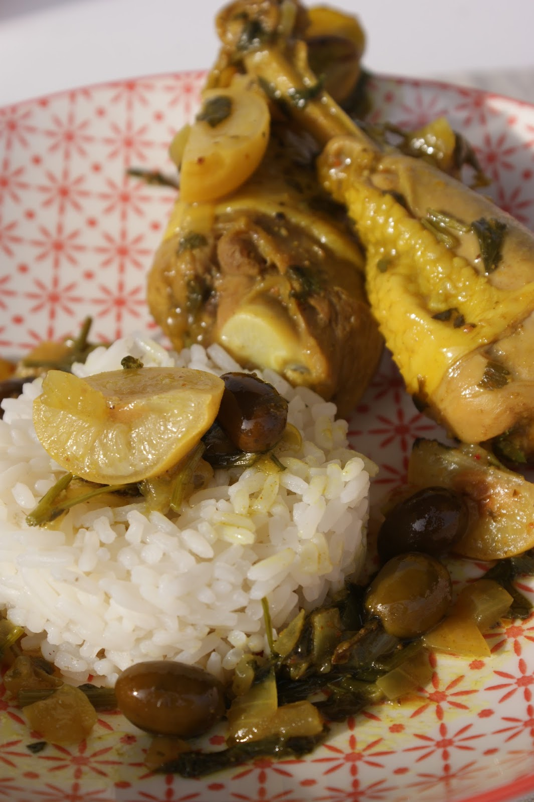 Lemon chicken tajine