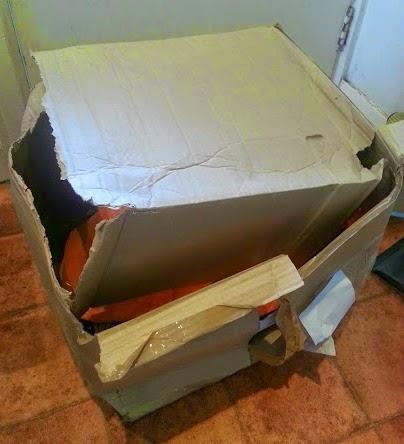 Trashed parcel
