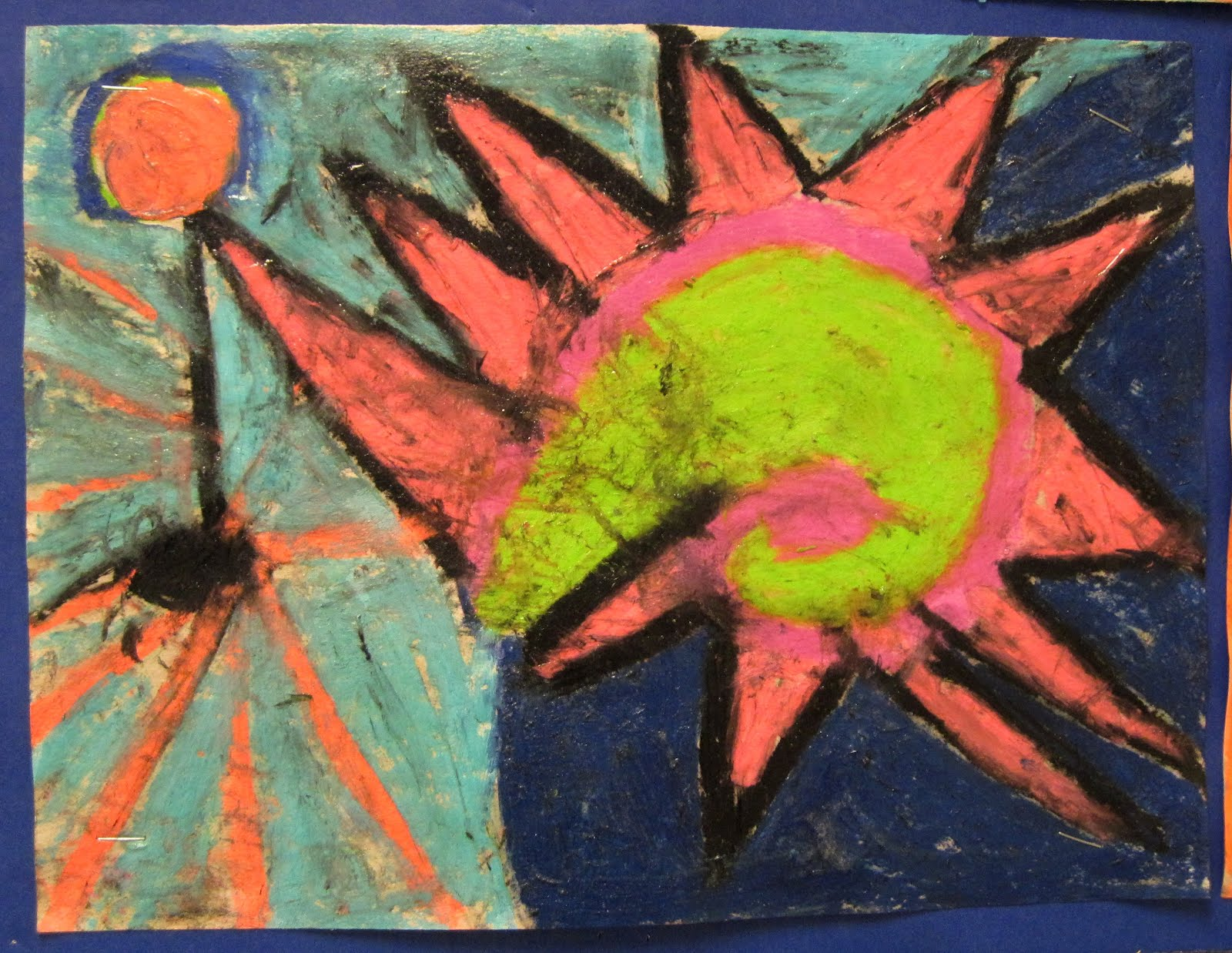 There\'s a Dragon in my Art Room: Abstract fun with chalk pastels
