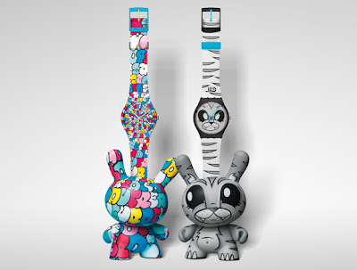 Kidrobot for Swatch Watch and Dunny 2 Packs - Tilt & Joe Ledbetter Sets