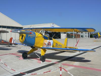 El Bücker Bü 131 en que volaba en Royo.
