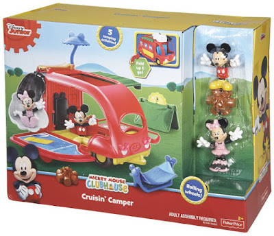 TOYS : JUGUETES - Fisher-Price  La Casa de Mickey Mouse | ClubHouse  Autocaravana | Cruisin' Camper  Producto Oficial Serie Telecision Disney Junior 2015  Mattel CJD98 | A partir de 2 años  Comprar Amazon España & buy Amazon USA