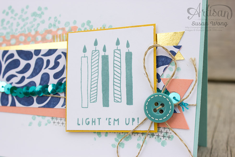 Light 'Em Up! Birthday Card detail ~ Susan Wong