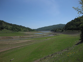 Uvas Reservoir, nearly run dry