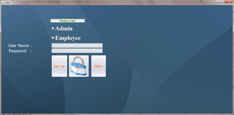 Windows App Login Page