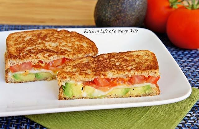 ... Life of a Navy Wife: Avocado, Mozzarella and Tomato Grilled Cheese