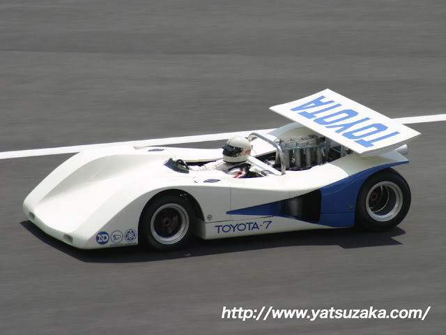 Toyota 7, japoński wyścigowy samochód, zabytkowy, legendarny, kultowy, znany, tor, sport, japonia, JDM, zdjęcia
