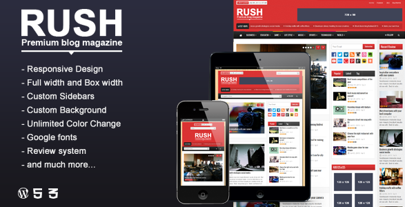 Theme tin tức Wordpress đẹp 2015 - Rush