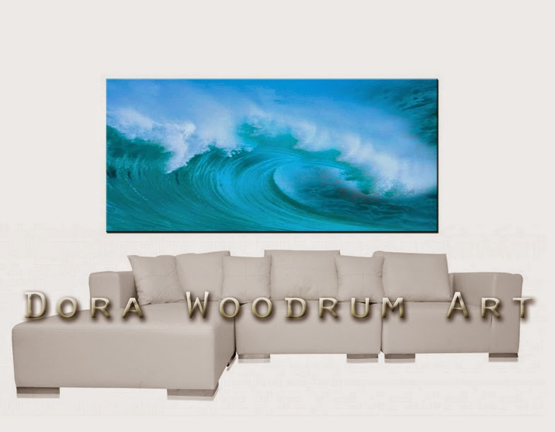 "Original Abstract Painting ""The Wave"" by Artist Dora Woodrum"