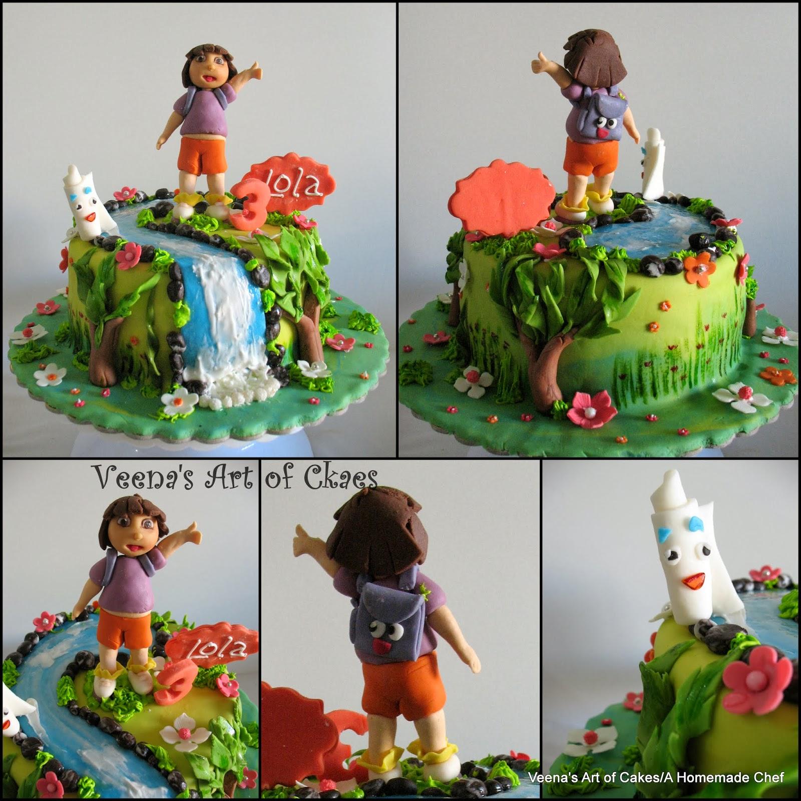 Veena Art Of Cake Fondant Recipe : Veena s Art of Cakes: Dora The Explorer Cake with How to ...