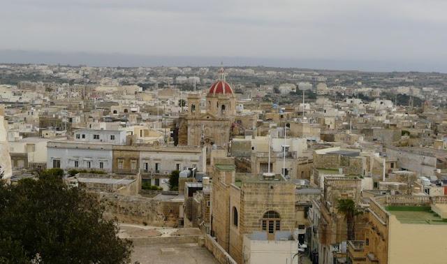 Widok z Cytadeli, Victoria na Gozo