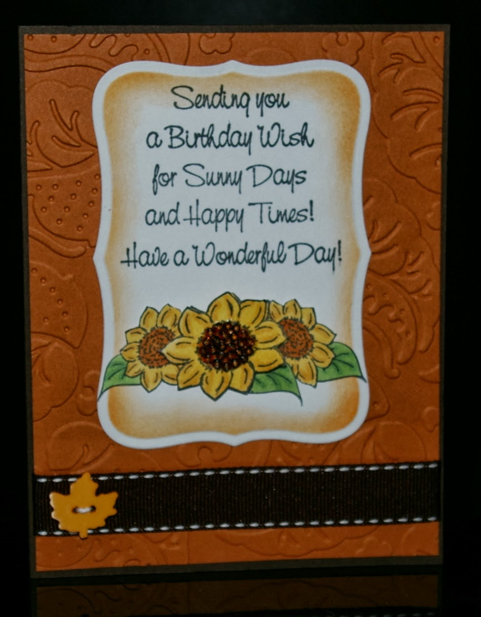 You Are My Sunshine Greeting Rubber Stamp By DRS Designs