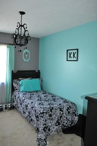 Dormitorios en color turquesa y negro dormitorios for Cuarto negro con gris