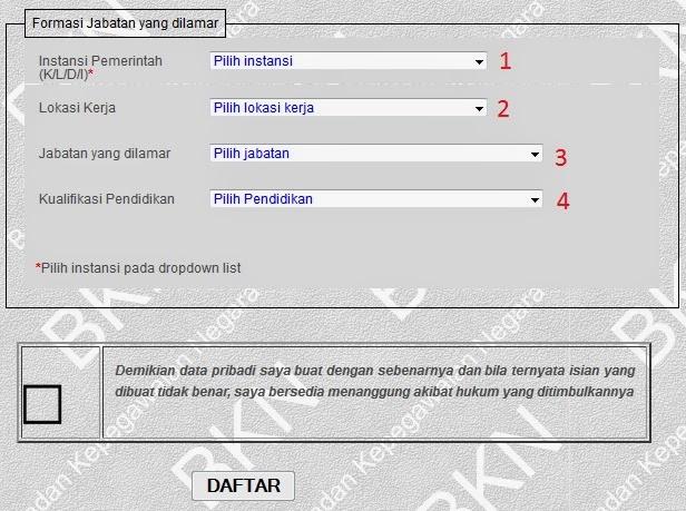 Registrasi pendaftaran cpns 2014