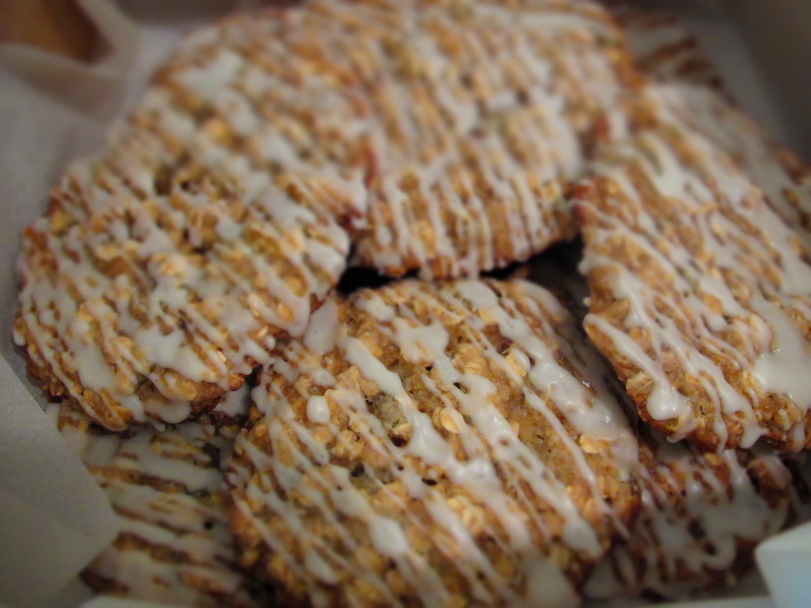 Pastry Shells: Maple-Glazed Oatmeal Applesauce Cookies