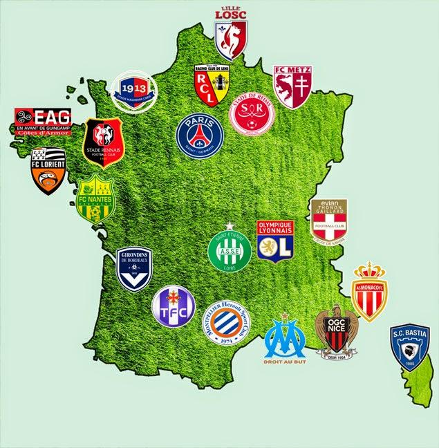 Klasemen Terbaru Liga Prancis Musim 2014-2015