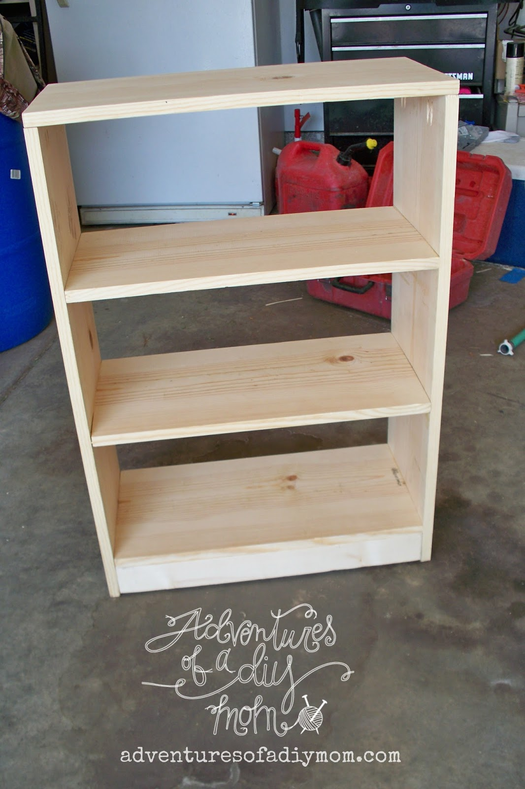 How to Build a Bookshelf - Adventures of a DIY Mom