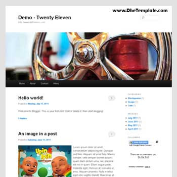 Twenty Eleven blogger template convert from wordpress theme to blogger. minimalist blogger template.