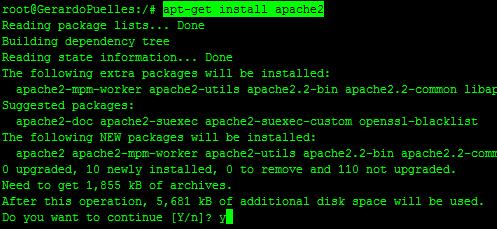 Instalar apache  y php en Ubuntu 12.04